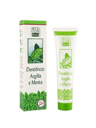 dentifricio argilla e menta tea natura ecoposteria ostia