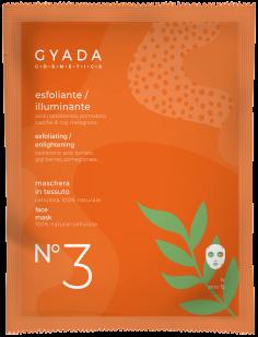 maschera in tessuto esfoliante, gyada cosmetics, Ecoposteria, Ostia